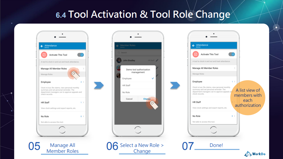 Tool activation & tool roles