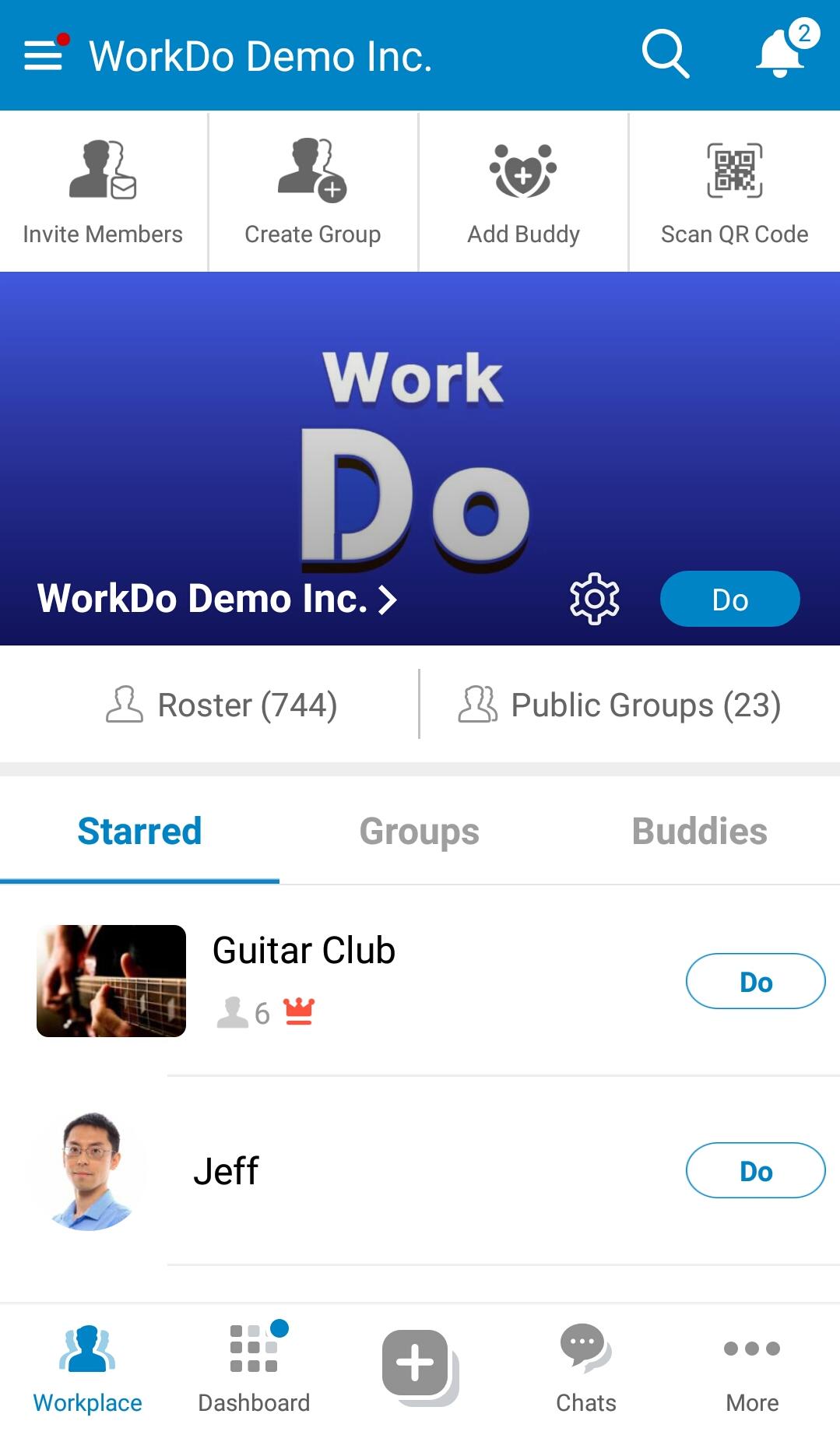 WorkDo, Workplace