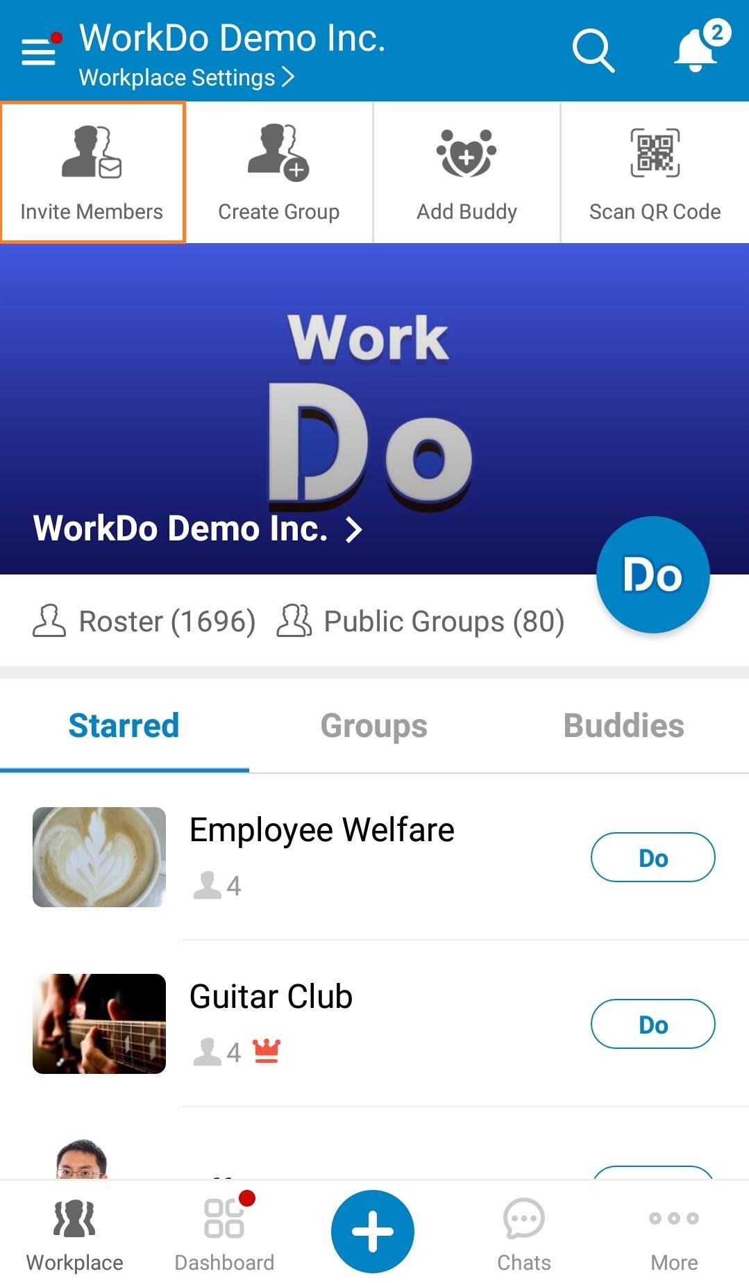 Mobile - Invite Members 01