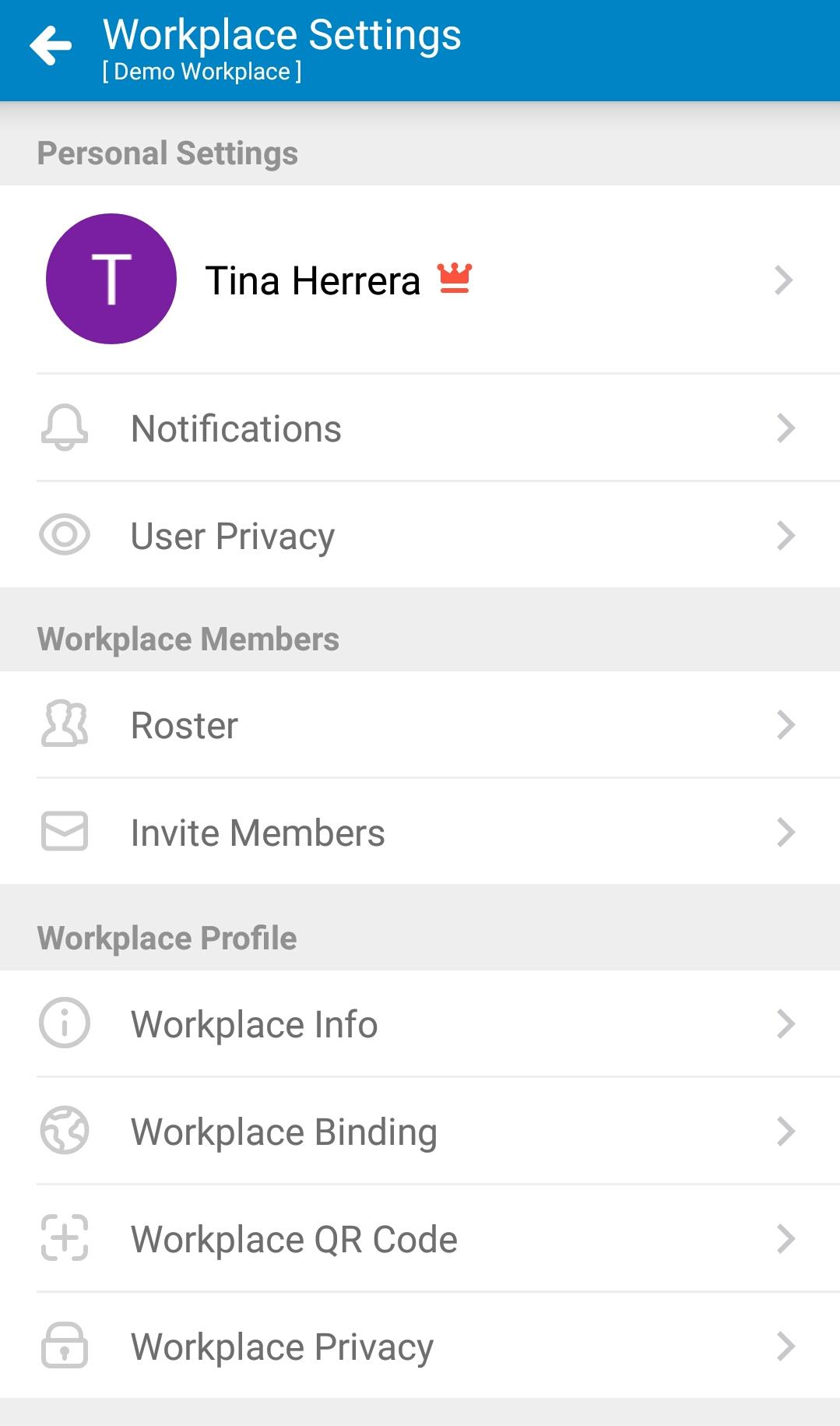 Mobile-Workplace Settings 01