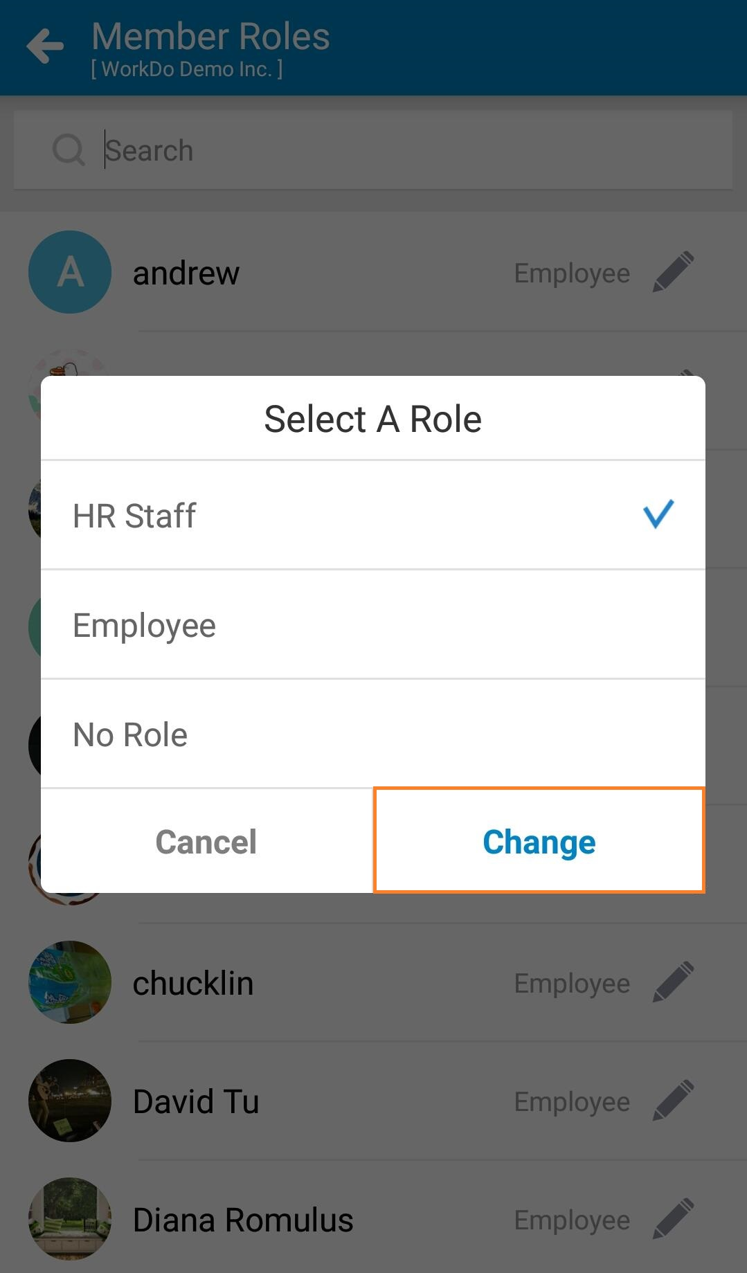 Mobile-Manage Tool Roles
